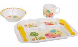 Kinder Tablett / Geschirr Set Kindergeschirr Tablett Kinder Kinderbesteck